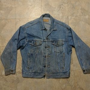 Mens Levis Strauss Denim Jean Jacket size Medium